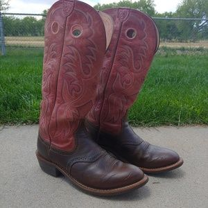 Ariat Red Raspberry Leather Boots Women's 10